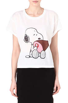RODNIK X PEANUTS Snoopy Eating Ham t-shirt