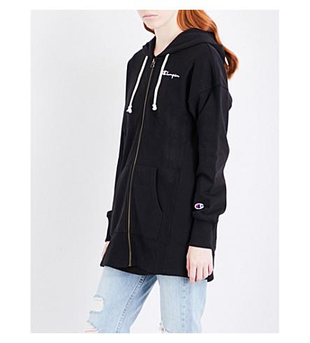 CHAMPION Oversized cotton-blend hoody (Black