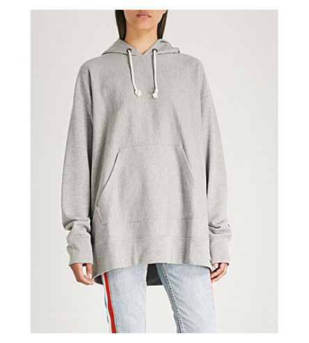 CHAMPION超大平纹针织棉帽衫 (Oxgm