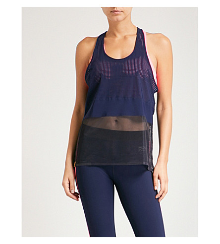 MONREAL LONDON Racer sports-mesh top (Indigo