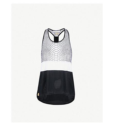 MONREAL LONDON Python-pattern racerback jersey top (Black+reptile