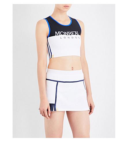 MONREAL LONDON Athlete logo-print stretch-jersey cropped top (Logo+print