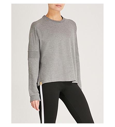 MONREAL LONDON Flex cotton-jersey sweatshirt (Grey+melange