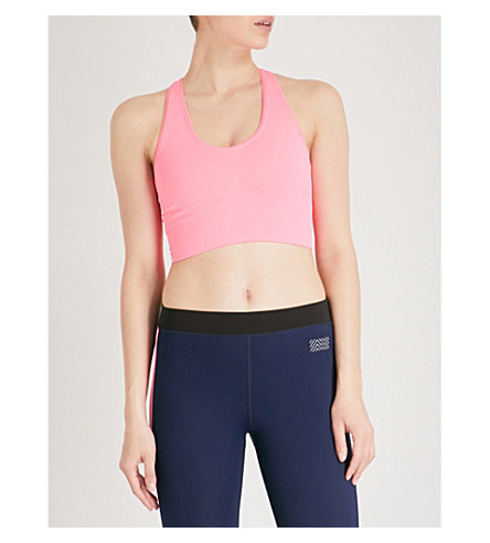 MONREAL LONDON Hi-Tech seamless tech-knitted sports bra (Ultra+pink