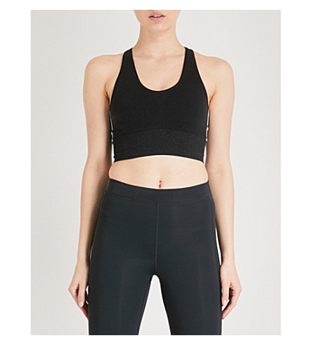 MONREAL LONDON Hi-Tech seamless tech-knitted sports bra (Black