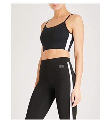 MONREAL LONDON Longline jersey sports bra (Black