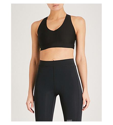 MONREAL LONDON Essential V jersey sports bra (Black
