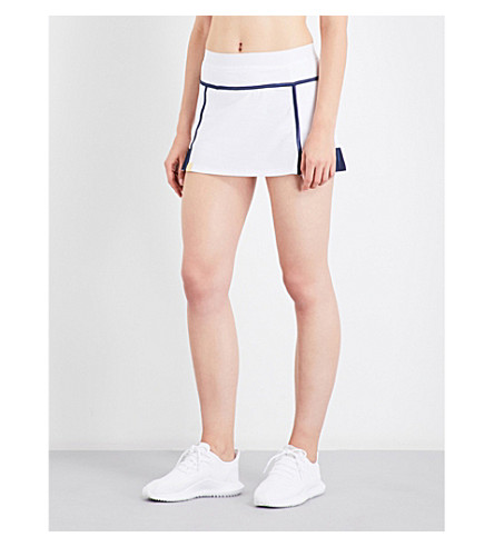 MONREAL LONDON Player stretch-jersey skirt (White/dark+sapphire