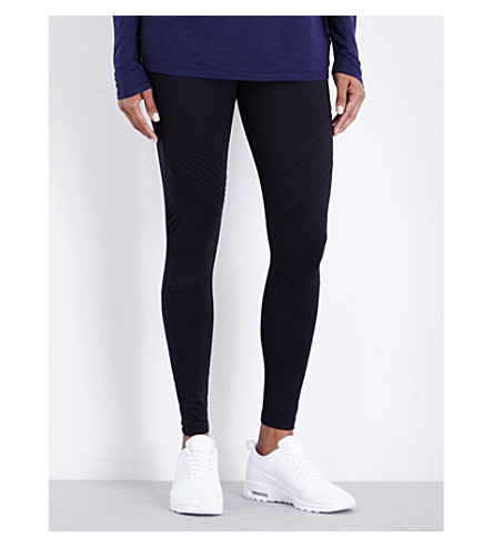 MONREAL LONDON Biker stretch-jersey leggings (Black