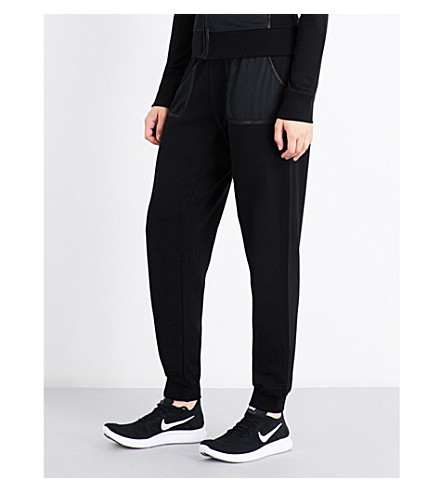 MONREAL LONDON Cosy jersey jogging bottoms (Black