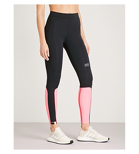MONREAL LONDON Sprinter jersey leggings (Black+ultra+pink