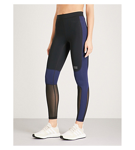 MONREAL LONDON Sprinter jersey leggings (Black+indigo