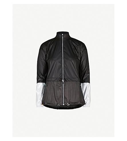 MONREAL LONDON Action windbreaker shell jacket (Black+silver