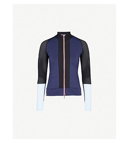 MONREAL LONDON Featherweight sports-mesh and jersey jacket (Indigo
