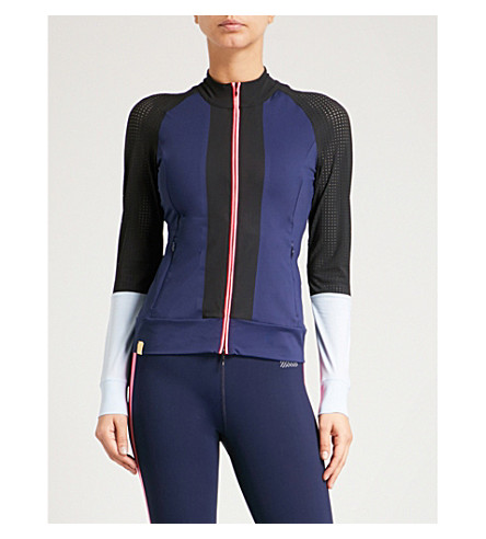MONREAL LONDON Featherweight sports-mesh and jersey jacket (Indigo
