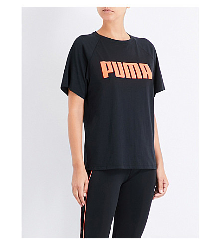 PUMA X SOPHIA WEBSTER Puma x Sophia Webster cotton-blend T-shirt (Puma+black