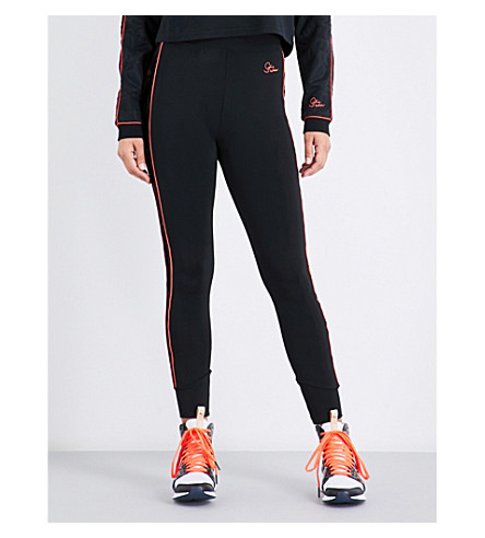 PUMA X SOPHIA WEBSTER Puma x Sophia Webster flocked-panel jersey leggings (Puma+black