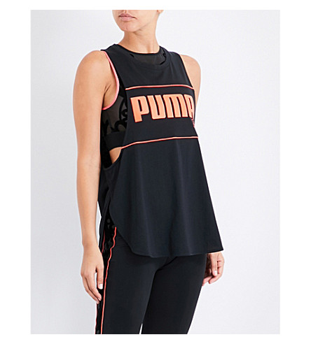 PUMA X SOPHIA WEBSTER Puma x Sophia Webster cotton-blend tank top (Puma+black