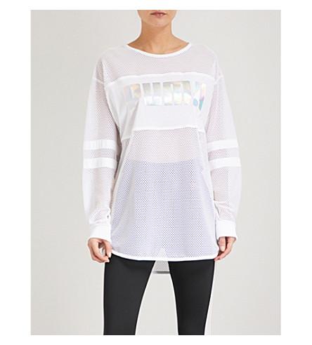 PUMA X SOPHIA WEBSTER Logo-print mesh T-shirt (Puma+white