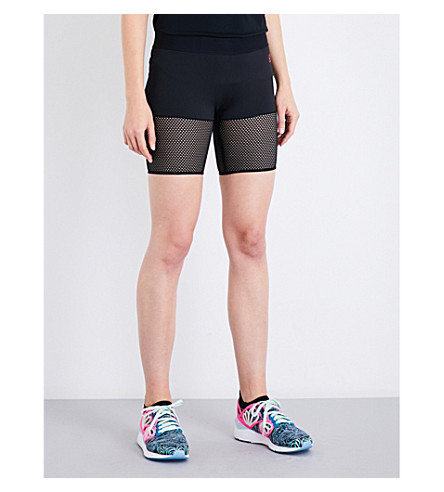PUMA X SOPHIA WEBSTER Puma x Sophia Webster stretch-jersey cycling shorts (Puma+black