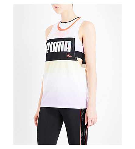 PUMA X SOPHIA WEBSTER Gradient jersey tank top (Mellow+yellow