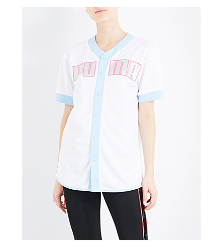 PUMA X SOPHIA WEBSTER Baseball-style jersey shirt (Puma+white