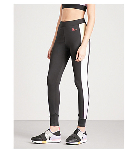 PUMA X SOPHIA WEBSTER Puma x Sophia Webster gradient-panel jersey leggings (Puma+black