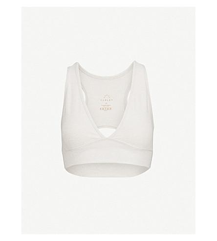 VARLEY Brooks stretch-jersey crop top (Alabaster