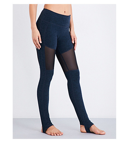 VARLEY Hillcrest stretch-jersey leggings (Midnight+blue