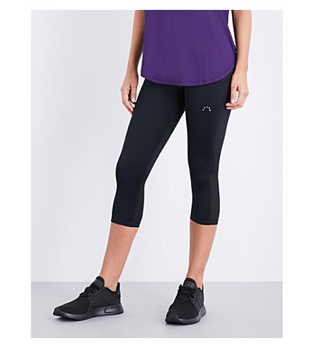 VARLEY Wilcox cropped stretch-jersey leggings (Black