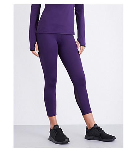 VARLEY Lexington cropped stretch-jersey leggings (Eggplant