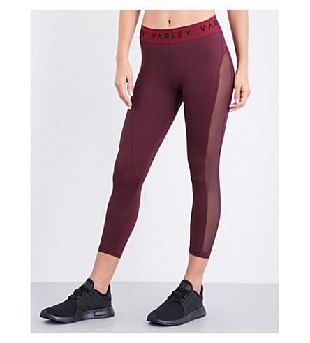 VARLEY Alden cropped stretch-jersey leggings (Raspberry