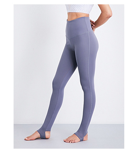 VARLEY Oak fleece leggings (Slate+blue