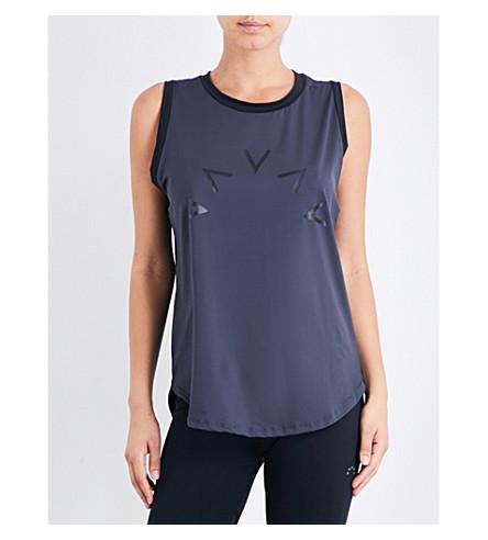 VARLEY Selma stretch-jersey top (Dark+grey