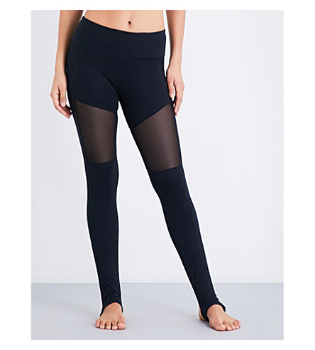 VARLEY Hillcrest stretch-fleece leggings (Black