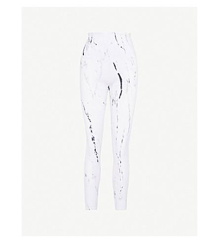 VARLEY Preston printed stretch-jersey leggings (Ink marble