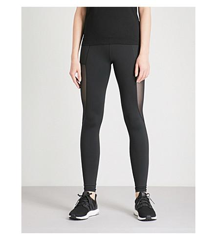 VARLEY Venice mesh-panelled stretch-jersey leggings (Black