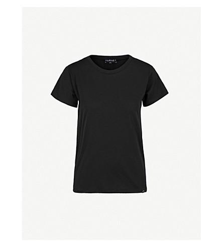 VARLEY Millbury tie-back cotton-blend T-shirt (Black