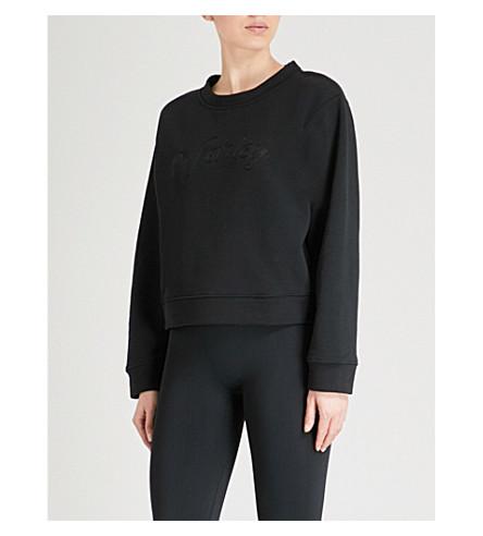 VARLEY Somerset embroidered cotton-blend sweatshirt (Black