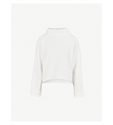VARLEY Whittier funnel-neck cotton sweatshirt (White
