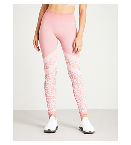 VARLEY Emerson stretch-jersey leggings (Orchid leopard