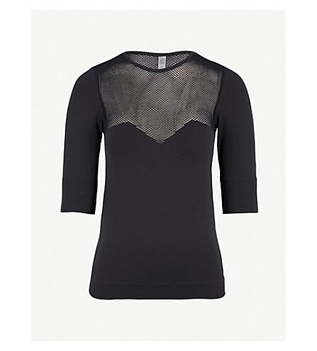 VARLEY Taylor stretch-jersey top (Black
