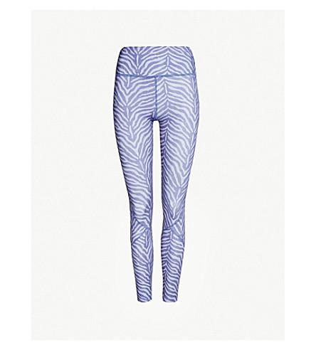 VARLEY Bedford stretch-jersey leggings (Blue zebra