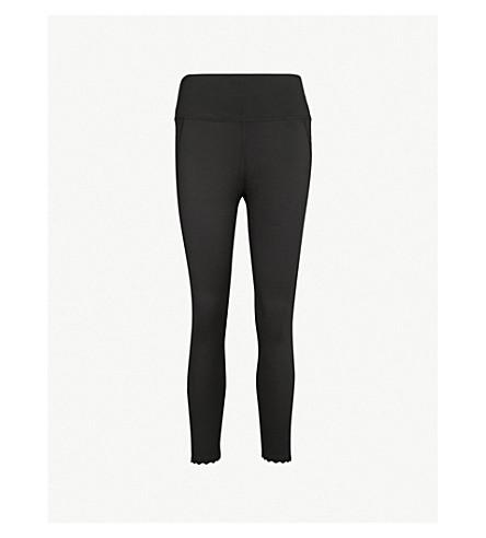 VARLEY Downing cropped stretch-jersey leggings (Black