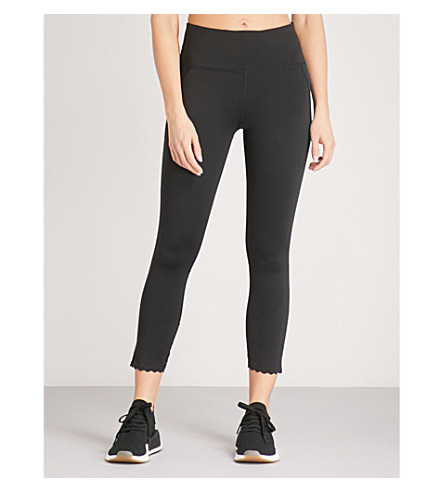 VARLEY Downing cropped stretch-jersey leggings (Black