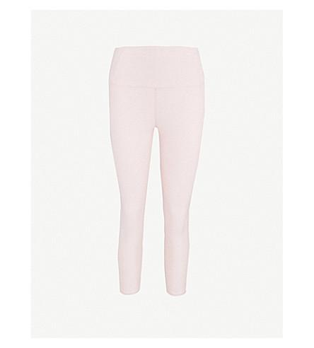 VARLEY Everett stretch-jersey leggings (Chalk+pink