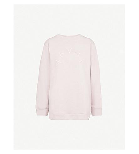 VARLEY Crestwood brand-embroidered cotton-blend sweatshirt (Gull grey