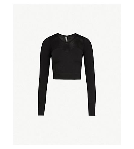 VARLEY Nolen stretch-jersey cropped top (Black