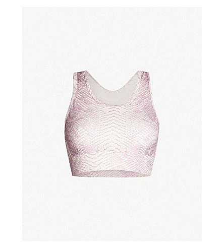 VARLEY Berkeley scoop-neck stretch-jersey sports bra (Coral snake