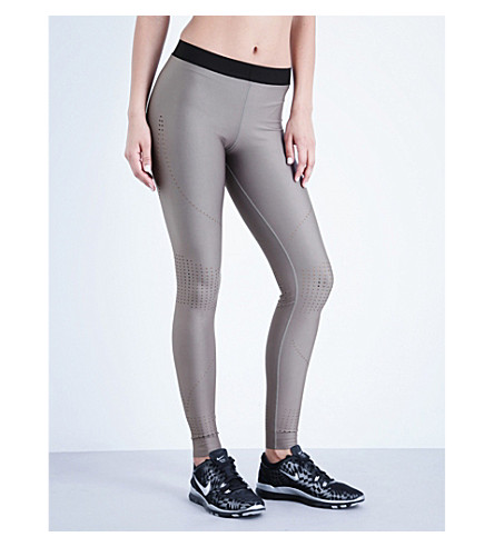 ULTRACOR Ultra Stylist Pixelate perforated stretch-jersey leggings (Khaki+exclusive